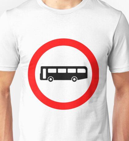 Bus UK British Cool Circle Transportation Unisex T-Shirt