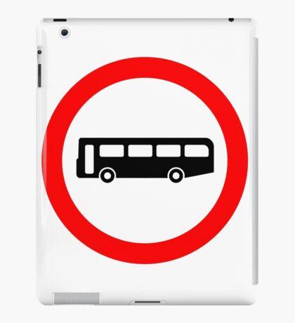 Bus UK British Cool Circle Transportation iPad Case/Skin