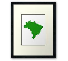 Brazil map Framed Print