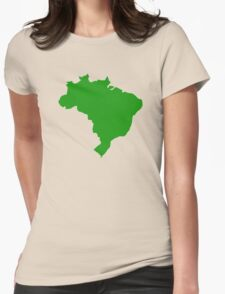 Brazil map Womens Fitted T-Shirt