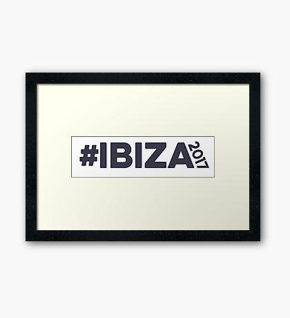 Ibiza 2017 Holidays Framed Print