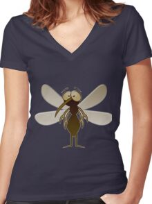 mosquito Women's Fitted V-Neck T-Shirt
