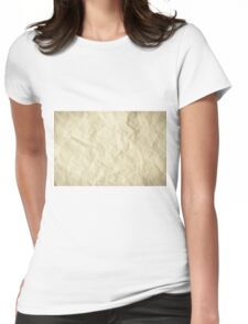 Grunge torn paper Womens Fitted T-Shirt