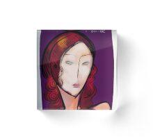 L'étoile figurative and pop portrait Acrylic Block