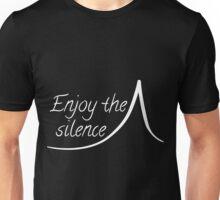 Enjoy the silence -white Unisex T-Shirt