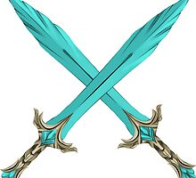 Epic Glass Sword Cross by Fascicle