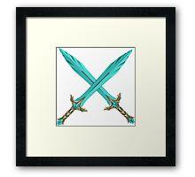 Epic Glass Sword Cross Framed Print