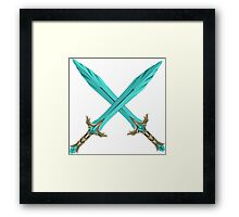 Epic Glass Sword Cross Framed Print