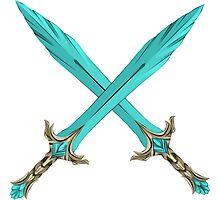 Epic Glass Sword Cross Photographic Print