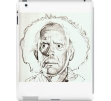 Christopher Lloyd, Doc Brown, drawing iPad Case/Skin