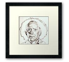 Christopher Lloyd, Doc Brown, drawing Framed Print