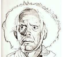 Christopher Lloyd, Doc Brown, drawing Photographic Print