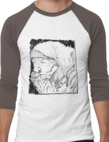 Mother Teresa - artist rendition Men's Baseball ¾ T-Shirt