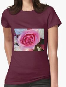 Pink Rose and Ribbon T-Shirt