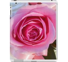 Pink Rose and Ribbon iPad Case/Skin