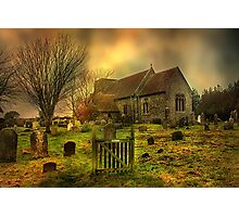St Mary Capel-Le-Ferne  Photographic Print
