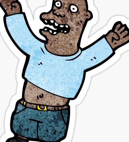 cartoon excited man Sticker
