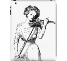 Woman Playing a Violin iPad Case/Skin