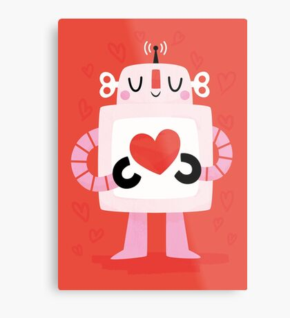 Love Robot Metal Print