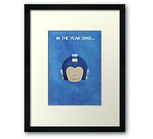 The Blue Bomber Framed Print