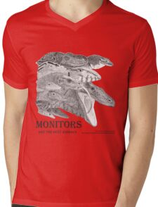 Monitors are the best animals Mens V-Neck T-Shirt