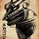 Waterbrushed Robot Villain! by cs3ink