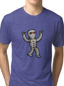cartoon robot Tri-blend T-Shirt