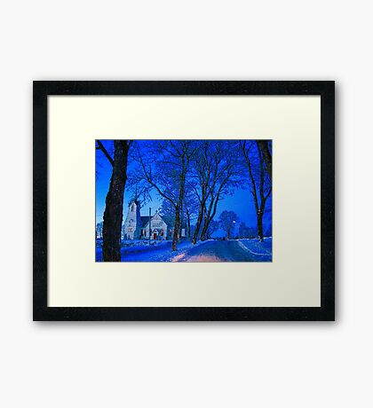 Temple at night Framed Print