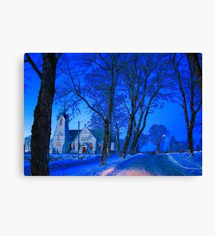 Temple at night Canvas Print