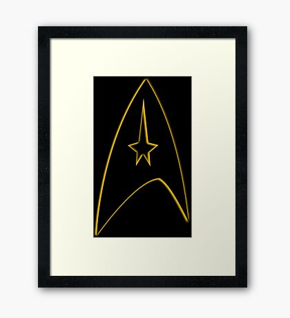 Starfleet Command Yellow Insignia Framed Print