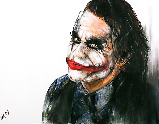 Portrait: Joker's Smile by Martin  Kumnick