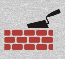 Mason brick wall trowel One Piece - Short Sleeve