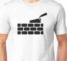 Mason brick wall trowel Unisex T-Shirt