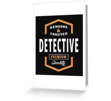 Genuine Detective T-shirt  Greeting Card