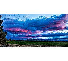 Sunset Over Cline Butte/Terrebonne Photographic Print