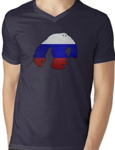 Russian Yeti Mens V-Neck T-Shirt