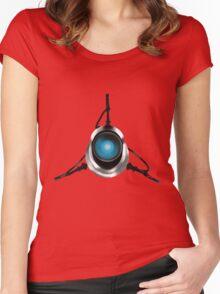 Portal Gun  Women's Fitted Scoop T-Shirt