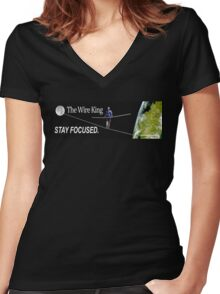 The Wire King Women's Fitted V-Neck T-Shirt