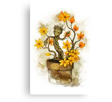 Orange Blossoms Baby Groot Canvas Print