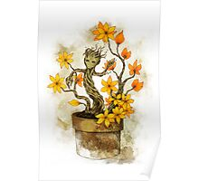 Orange Blossoms Baby Groot Poster