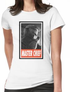 -GEEK- Master Chief Womens Fitted T-Shirt