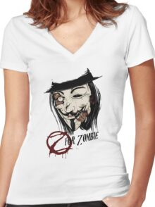 Z for Zombie Women's Fitted V-Neck T-Shirt