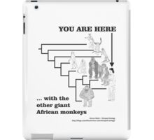 With the other giant African monkeys iPad Case/Skin