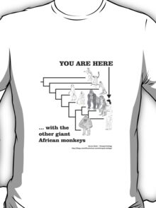 With the other giant African monkeys T-Shirt