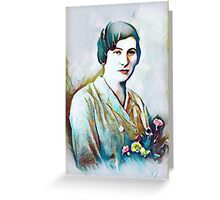 Portrait of a vintage woman Greeting Card