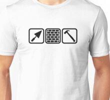 Mason brick wall tools Unisex T-Shirt