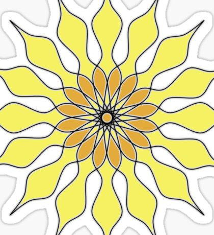 Yellow Sunflower Mandala Sticker