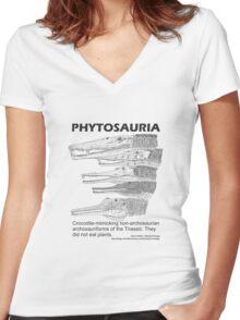 Phytosaurs! Women's Fitted V-Neck T-Shirt