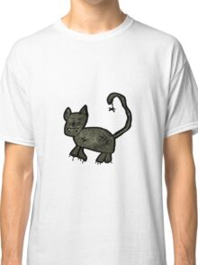 child's drawing of a black cat Classic T-Shirt