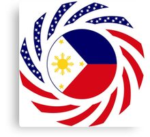 Filipino American Multinational Patriot Flag Series 1.0 Canvas Print